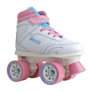 White & Pink Sidewalk Skate - Kids