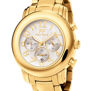 Folli Follie Ladies Urban Spin Yellow Gold And White Watch