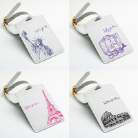 Luggage Tag - Country city style, travel bag tag (E67)
