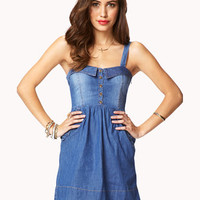 Sweetheart Denim Shirt Dress