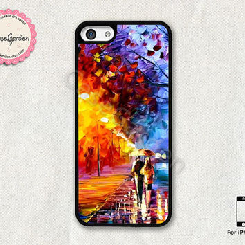 Lovers in the Rain iPhone 5C Case, iPhone Case, iPhone Hard Case, iPhone 5C Cover