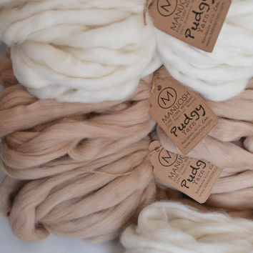 Pudgy - Huge Super Chunky & Super Bulky Merino Wool Yarn (Pudgist, Thickest, Softest Yarn on the Market!)