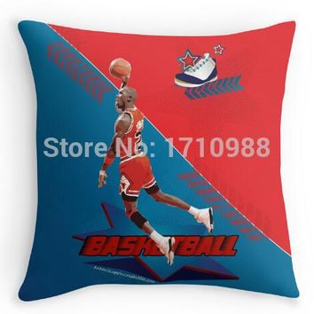 Free shipping Hot Funny Michael Jordan Basketball Square Zippered Throw Pillows Decor