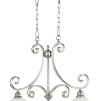 "0-010657>30""w Bryant 2-Light Kitchen Island Light Classic Nickel"