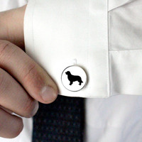 Reserved for Joey - Full Body Golden Retriever Silhouette Cufflinks - Custom Dog Breed Cameo