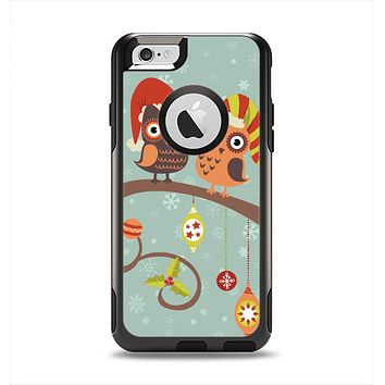 The Retro Christmas Owls with Ornaments Apple iPhone 6 Otterbox Commuter Case Skin Set