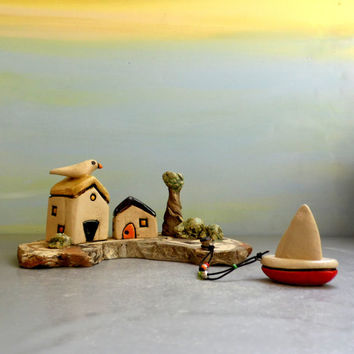 Ceramic sculpture , Ceramic houses , Ceramics and pottery , Keramik , töpferwaren , Ceramic handmade miniature houses , Art anniversary gift