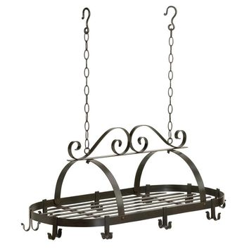 HANGING POT HOLDER WROUGHT IRON POT PANS RACK