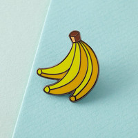Bananas Enamel Pin with clutch back // lapel pins, tropical, hawaiian // EP086