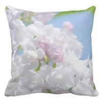 Lilac Flowers Throw Pillow
