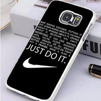 Just do it Quotes Samsung Galaxy S7 Edge Case Sintawaty.com