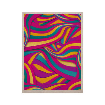 """Danny Ivan """"Swirls Everywhere"""" Pink Teal KESS Naturals Canvas (Frame not Included)"""