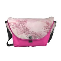 Pink Orchid Courier Bag