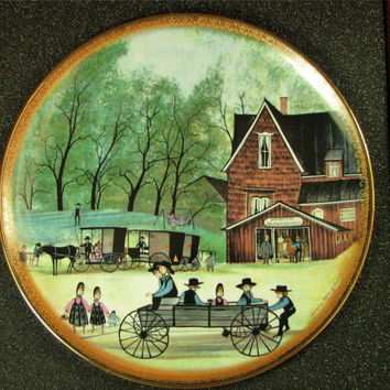 """ANNA PERENNA Buckley Moss""""The Blacksmith """"Collector Plate New! MIB! #1677"""