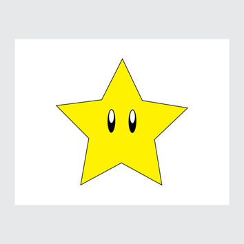 Mario Star Printable Card