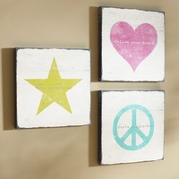 Icon Sentiments Wall Art - Set of 3