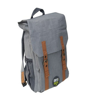 Ramie Leaf & Jute Blend Backpack - Grey. this stylish yet practical bag from Onyx & Green is the perfect eco-friendly, everyday