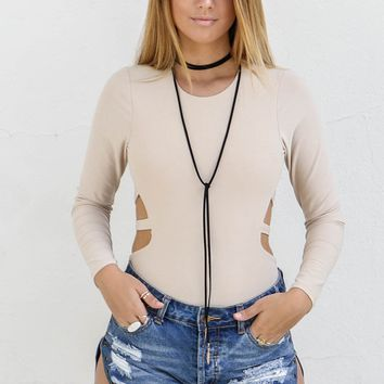 Give Everything Nude Strappy Back Bodysuit