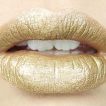 Metallic Gold Liquid Lipstick