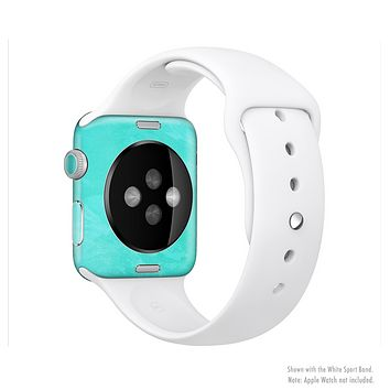 The Subtle Neon Turquoise Surface Full-Body Skin Set for the Apple Watch