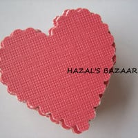 20PCS - Scrapbooking, Jewelry Design, Collage Rounds - 3cm - Hearts - Red