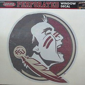 "Florida State Seminoles FSU SD 12"" Perforated Auto Window Film Decal University"
