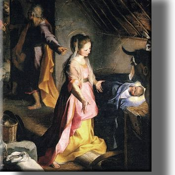 The Nativity Jesus Christ Picture on Acrylic , Wall Art Décor, Ready to Hang!