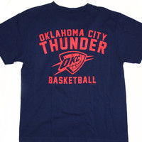 Oklahoma City Thunder OKC Majestic Short Sleeve T Shirt Size L