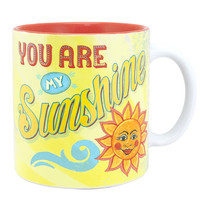 You Are My Sunshine Oversized Mug or Soup Cup-Holds 20 Oz.