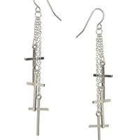 3 Cross Linear Earring | Shop Jewelry at Wet Seal