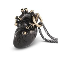 Black Beating Heart Necklace