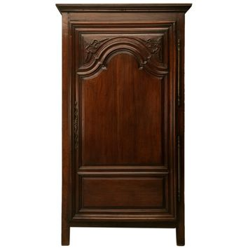 French Louis XIV Bonnetiere or Small Armoire