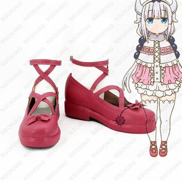 New Kobayashi-san Chi no Maid Dragon Kanna Kamui Cosplay Boots Anime women Shoes Custo