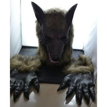 Halloween Costumes Wolf Mask(head + Gloves) [9221626948]