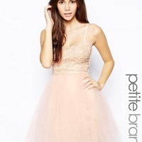 Little Mistress Petite Tulle Prom Dress