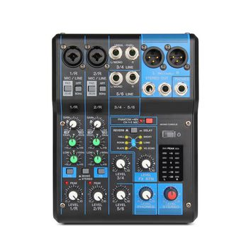 Professional Audio consule 6 Channel Input and USB Interface Analog Mixer With Compression and Effects LN for Stage DJ