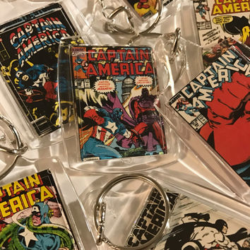 Captain America Mystery Keychain - Mystery Keychain - One of a Kind - Keychain (ready to ship)