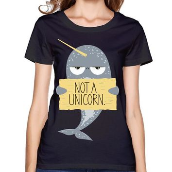 Narwhal Not A Unicorn Black T-Shirt