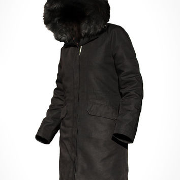 Custom Cotton Canvas Fur Lined Parka by J.O.D Clothing