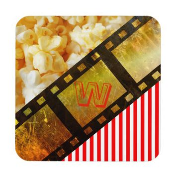 Popcorn and movie reel coaster