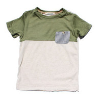 Cavelle Olive Prowling Pocket Tee