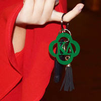 kappa delta acrylic key chain - green