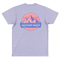 Branding Collection - Summit Tee in Washed Berry by Southern Marsh - FINAL SALE