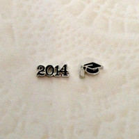 Floating charms  for living lockes 2014 and Graduation cap