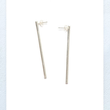 Bar Earring - Sterling Silver
