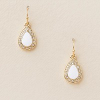Karen Pavé Trim Teardrop Earring