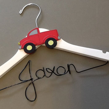 Personalized New Baby Boy/Small Child Custom Wire Hanger - Great shower gift