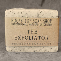 The Exfoliator  - Scrub Soap, Exfoliating Soap Bar - All Natural Soap, Handmade Soap, Unscented Soap, Cold Process Soap, Vegan Soap