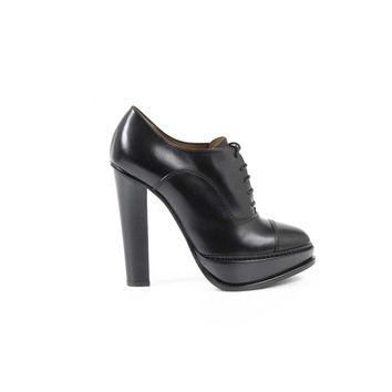 Black 40 EUR - 10 US Ralph Lauren Womens Ankle Boot TEMPLE BURN.CALF BLACK
