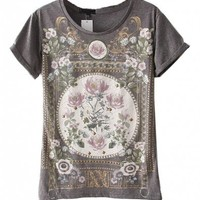 Premium T-Shirt with Baroque Print Details